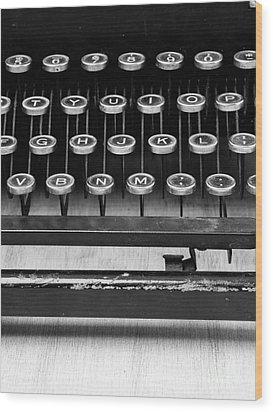 Typewriter Triptych Part 2 Wood Print by Edward Fielding