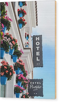 Typical Andalusian Hotel Wood Print by Tetyana Kokhanets