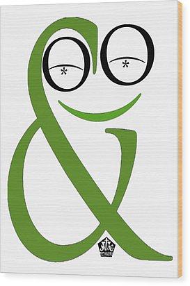 Typographical Frog Wood Print