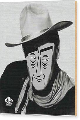 Typortraiture John Wayne Wood Print by Seth Weaver