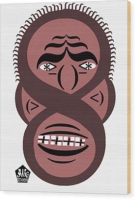 Typortraiture Obama Wood Print by Seth Weaver