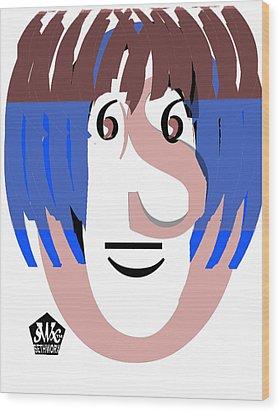 Typortraiture Ringo Starr Wood Print by Seth Weaver