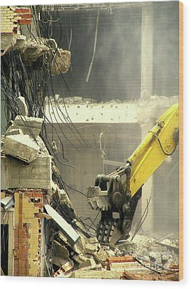 Tyrannosaurus Wrecks Wood Print by Joe Jake Pratt