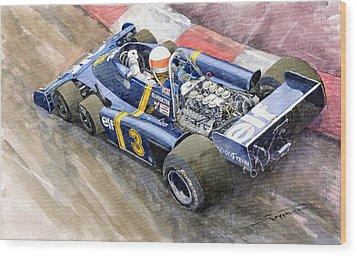 Tyrrell Ford Elf P34 F1 1976 Monaco Gp Jody Scheckter Wood Print by Yuriy  Shevchuk