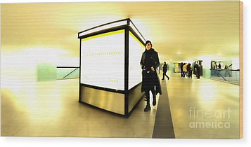 U-bahn Wood Print by Phil Robinson