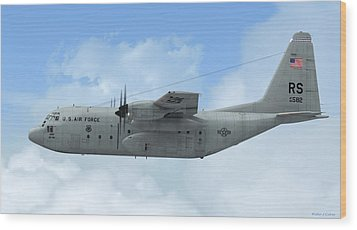 U. S. Air Force C-130 Hercules Wood Print by Walter Colvin