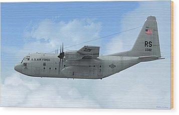 U. S. Air Force C-130 Hercules Wood Print