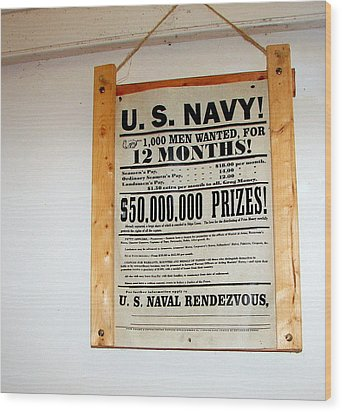 U. S. Navy Men Wanted Wood Print