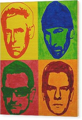 U2 Wood Print by Doran Connell