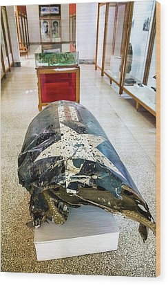 U2 Spy Plane Engine Wreck Wood Print by Peter J. Raymond