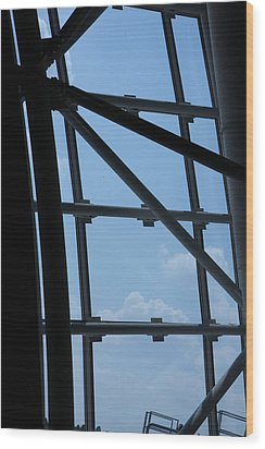Udvar-hazy Center - Smithsonian National Air And Space Museum Annex - 1212103 Wood Print by DC Photographer