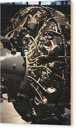 Udvar-hazy Center - Smithsonian National Air And Space Museum Annex - 121215 Wood Print by DC Photographer