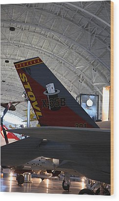 Udvar-hazy Center - Smithsonian National Air And Space Museum Annex - 121222 Wood Print by DC Photographer