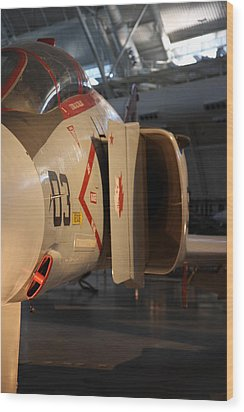 Udvar-hazy Center - Smithsonian National Air And Space Museum Annex - 121232 Wood Print by DC Photographer