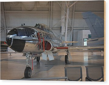 Udvar-hazy Center - Smithsonian National Air And Space Museum Annex - 121242 Wood Print by DC Photographer