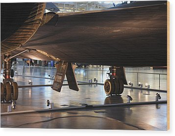 Udvar-hazy Center - Smithsonian National Air And Space Museum Annex - 121246 Wood Print by DC Photographer