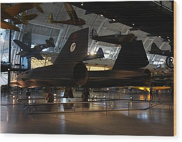 Udvar-hazy Center - Smithsonian National Air And Space Museum Annex - 121247 Wood Print by DC Photographer