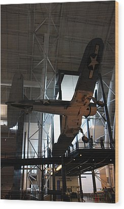 Udvar-hazy Center - Smithsonian National Air And Space Museum Annex - 121248 Wood Print by DC Photographer