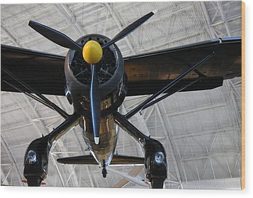 Udvar-hazy Center - Smithsonian National Air And Space Museum Annex - 121249 Wood Print by DC Photographer