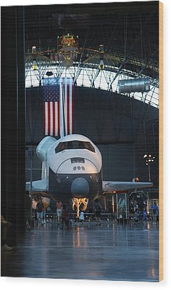 Udvar-hazy Center - Smithsonian National Air And Space Museum Annex - 121255 Wood Print by DC Photographer