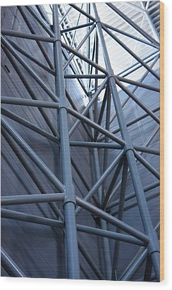 Udvar-hazy Center - Smithsonian National Air And Space Museum Annex - 121270 Wood Print by DC Photographer