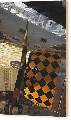 Udvar-hazy Center - Smithsonian National Air And Space Museum Annex - 121289 Wood Print by DC Photographer