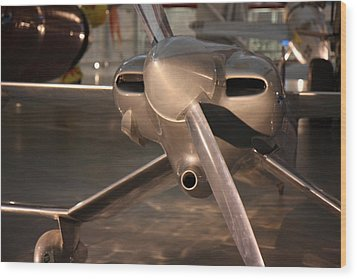 Udvar-hazy Center - Smithsonian National Air And Space Museum Annex - 121290 Wood Print by DC Photographer