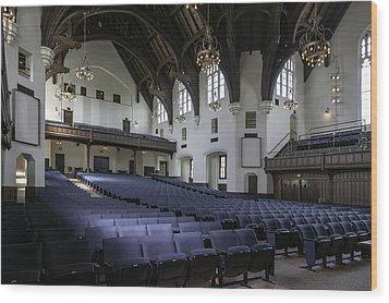Uf University Auditorium Interior And Seating Wood Print by Lynn Palmer