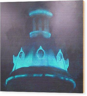 Ufo Dome Wood Print by Blue Sky
