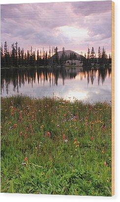 Uinta Wildflowers Wood Print