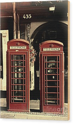 Uk Phone Box Wood Print