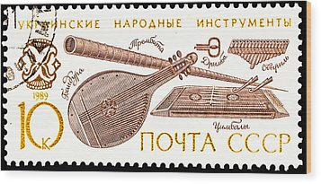 Ukrainian Folk Music Instruments  Wood Print by Jim Pruitt
