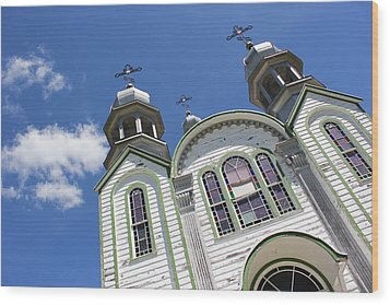 Wood Print featuring the photograph Ukrainian Orthodox Church - Wroxton by Ryan Crouse