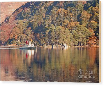 Wood Print featuring the photograph Ullswater Steamer by Linsey Williams