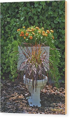 Ultimate Flower Pot 2 Wood Print by Dodie Ulery