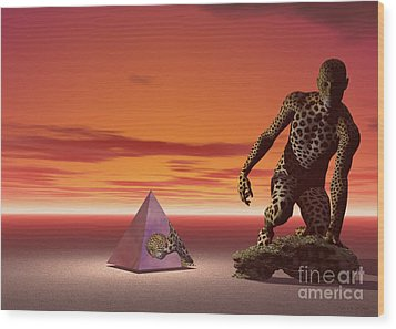 Wood Print featuring the digital art Ultimatum - Surrealism by Sipo Liimatainen