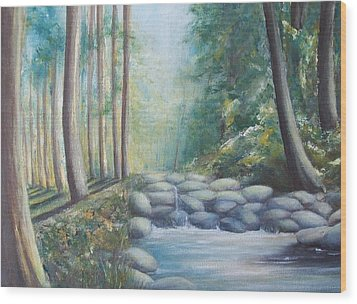Wood Print featuring the painting Ulu Bendul by Jane  See