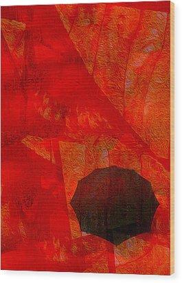 Umbrella Wood Print by Jack Zulli