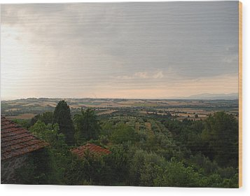 Umbrian View 2 Wood Print by Dorothy Berry-Lound