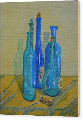 Wood Print featuring the painting Un  Corked by Melvin Turner