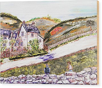 Wood Print featuring the painting An Afternoon In June by Loredana Messina