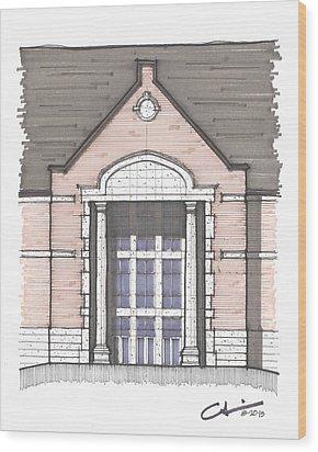 Una Entry Study Wood Print by Calvin Durham