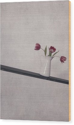 Unbalanced Flowers Wood Print by Joana Kruse