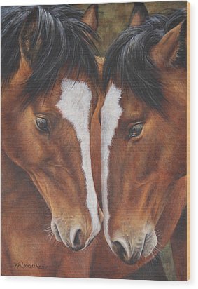 Unbridled Affection Wood Print
