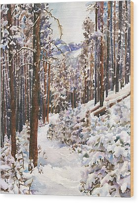 Unbroken Snow Wood Print by Anne Gifford