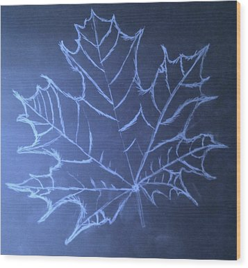 Wood Print featuring the drawing Uncertaintys Leaf by Jason Padgett