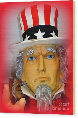 Uncle Sam Wants You Wood Print by Ed Weidman