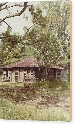 Uncle Toms Cabin Brookhaven Mississippi Wood Print by Michael Hoard