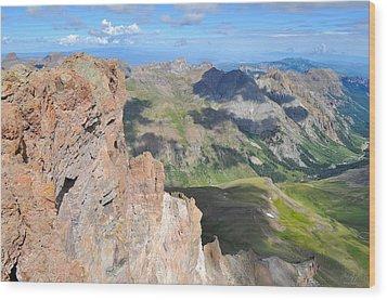 Uncompahgre Peak Summit Wood Print by Aaron Spong