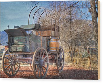 Uncovered Wagon Wood Print by Donna Kennedy